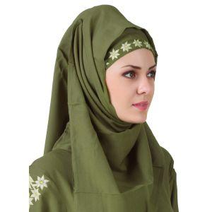 Green color Designer-Rayon Hijab