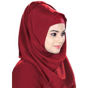 Maroon color Designer-Kashibo Hijab