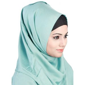 blue color Designer-Rayon Hijab