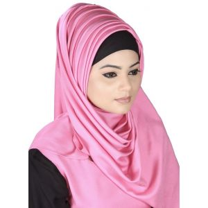 Pink color Designer-Rayon Hijab