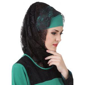 Black color Designer-Net Hijab