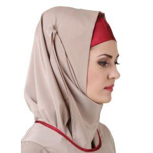 Grey color Designer-Crepe Hijab