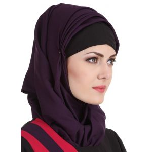 Purple color Designer-Kashibo Hijab