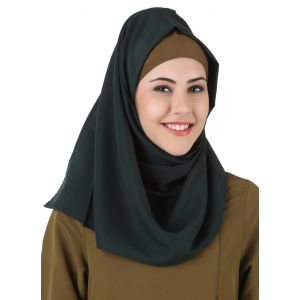 Green color Designer-Kashibo Hijab