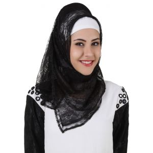 Black color Designer-Net Hijab