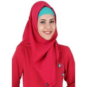 Pink color Designer-Kashibo Hijab