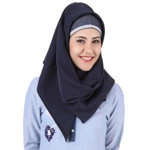 Blue color Designer-Denim Hijab