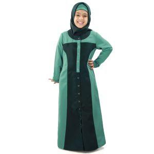 Green color Kid's-Kashibo Kid's Abaya