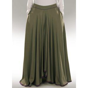 Green color Skirt-Rayon Skirt