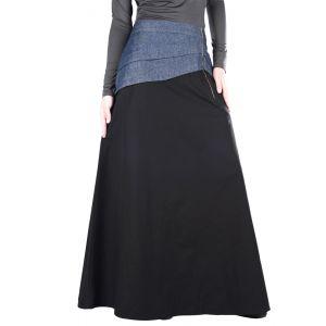 Black and Blue color Skirt-Denim Skirt