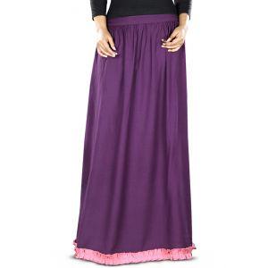 Purple and Pink color Skirt-Rayon Skirt