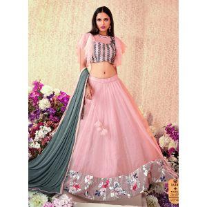 Women Lehenga Choli Pink color Designer