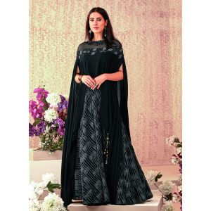 Women Lehenga Choli Black color Designer