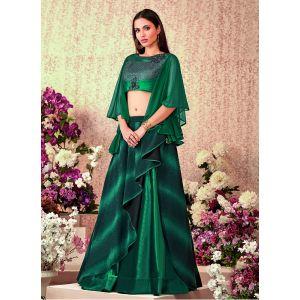 Women Lehenga Choli Green color Designer