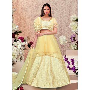 Women Lehenga Choli Cream color Designer