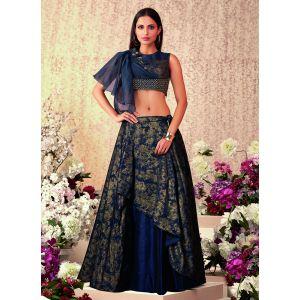 Women Lehenga Choli Blue color Designer
