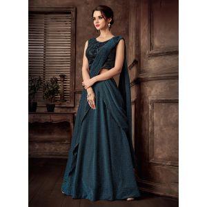 Women Lehenga Choli Turquoise color Designer