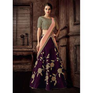 Women Lehenga Choli Maroon color Designer