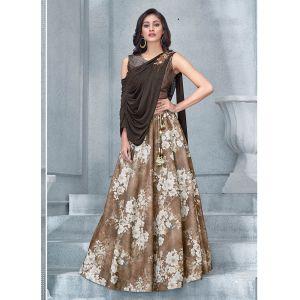 Women Lehenga Choli Brown color Designer