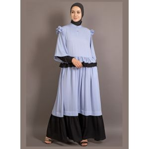 Womens Abaya Blue & Black Color Daily wear