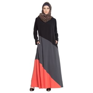 Womens Abaya Multi Color Evening Dress