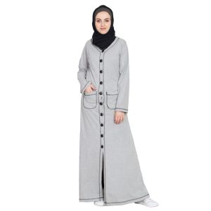 Womens Abaya Grey Color Modest