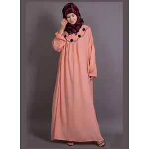 Womens Abaya Orange Color Casual wear