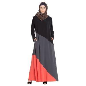 Womens Abaya Multi Color Evening Dress