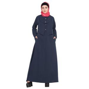 Extra Jacket Front Open Casual Abaya