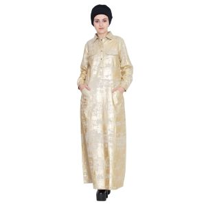 Gold Printed Rock Star Abaya