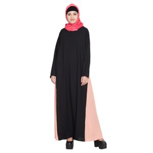 Womens Abaya Black & Orange Color Attractive