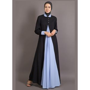 Womens Abaya Black & Blue Color Fancy