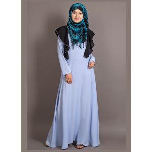 Womens Abaya Blue & Black Color Attractive