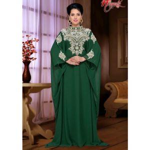 Green color Designer-Georgette Kaftan