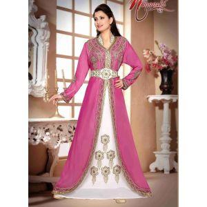 Swank Pink Color Fashionable Full Sleeves Kaftan