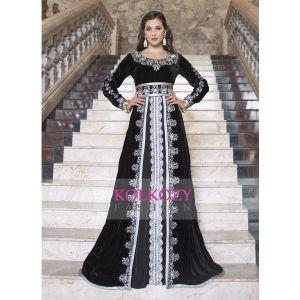 Kaftan Thread Work Arabic Evening Dress