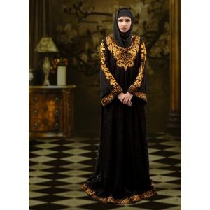 Formal Abaya Maxi Dress Black Color