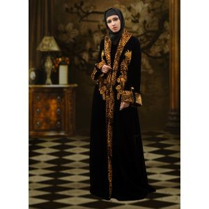 Embroidered  Work Formal Abaya Black Color