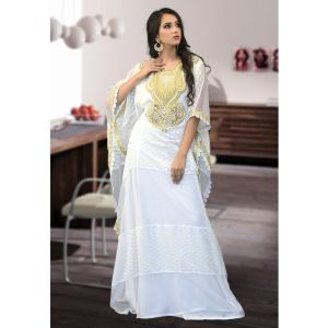 Modest Free Size Kaftan Off White Color