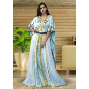 Free Size Mint Green Color Kaftan