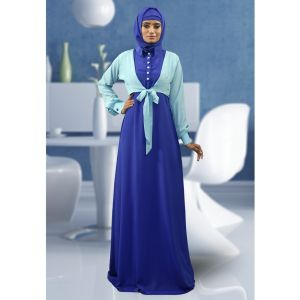 Formal Abaya Aqua Blue Color Dress