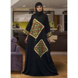 Modest Muslim Black ColorEvening Caftan