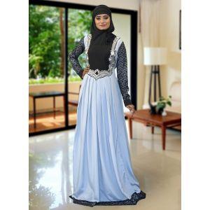 Gray Color Formal Abaya Maxi Dress