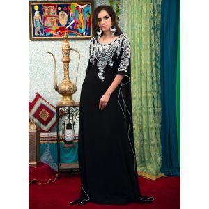 Black Color Georgette Free Size Kaftan