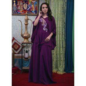 Violet Color Maxi Abaya Dress