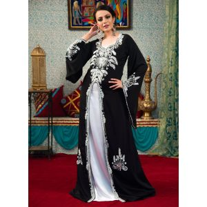 Black Color Glamorous Muslim Wear Kaftan