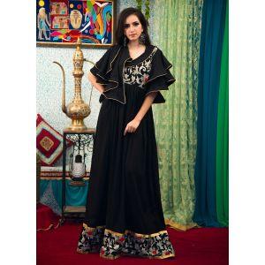 Black Color Abaya Maxi Dress