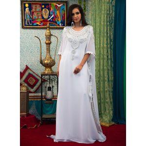 White Color Trendy Abaya Style Kaftan