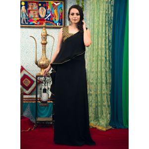 Black Color Partywear Dubai Kaftan