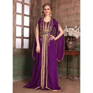 Violet color Kaftan-Brasso Kaftan